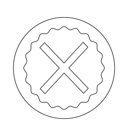 Cancel cross icon Illustration