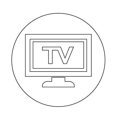 Icône de TV Banque d'images - 70663547