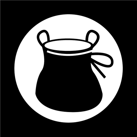 alpinism: Chalk Bag climb icon Illustration