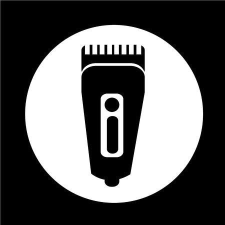 shaver: Shaver symbol hairclipper icon Illustration
