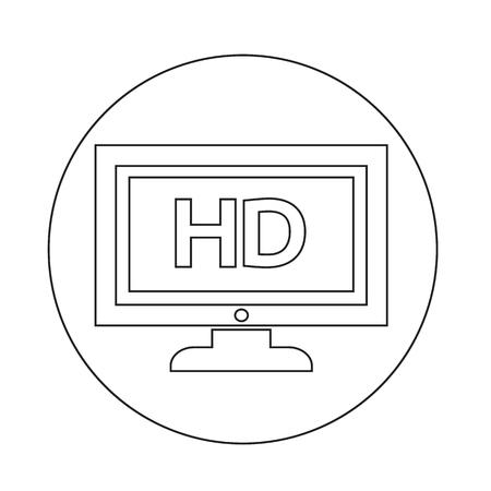 Icône de TV Banque d'images - 70663797