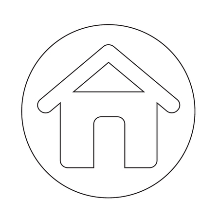 real estate: Real estate house icon Illustration