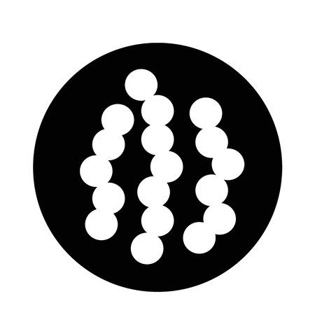 amoeba: virus bacteria icon