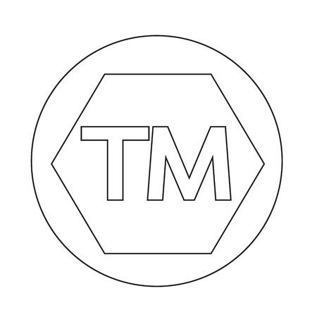 warrant: trademark button Illustration