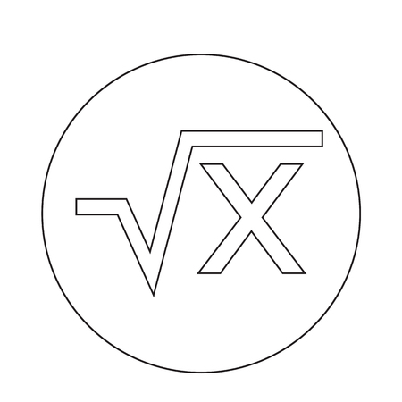 algebraic: Square root  icon