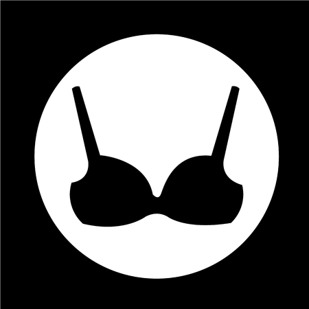 Woman underwear lingerie Bikini icon Ilustração
