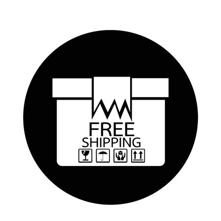 distributing: Free Shipping  icon