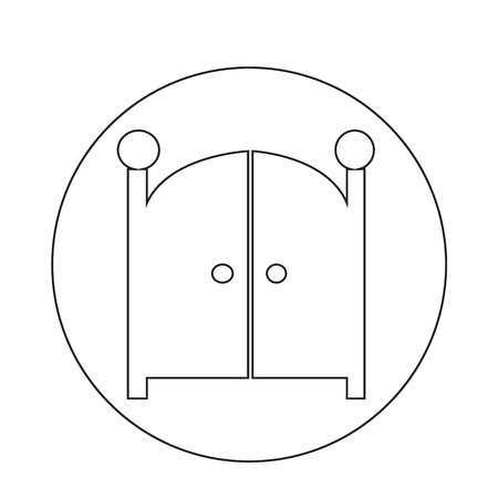 front of: Front Gate Icon Illustration