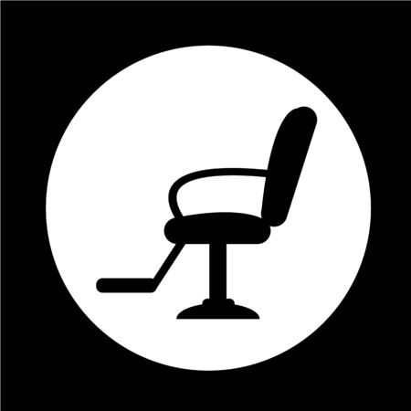 barber chair: Barber Chair Icon Illustration