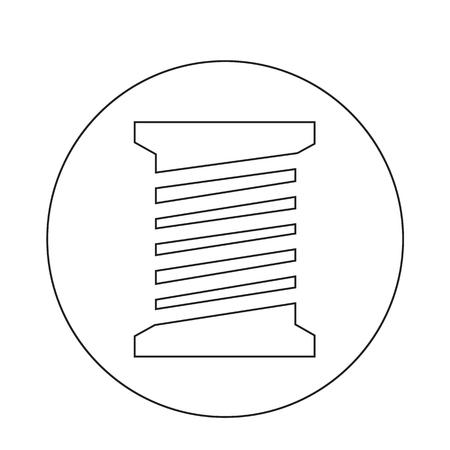 bobbin: Tailor thread bobbin icon