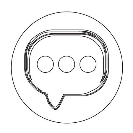 dialog balloon: Speech bubble icon Illustration