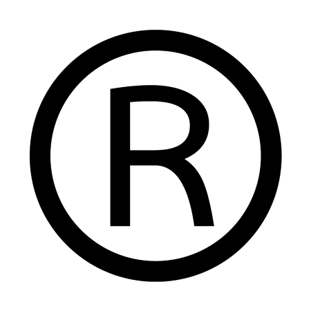 Registered Trademark icon Vector Illustration