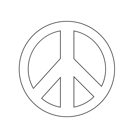 pacifist: Peace sign icon vector illustration