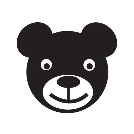 huggable: bear icon Vector Illustration