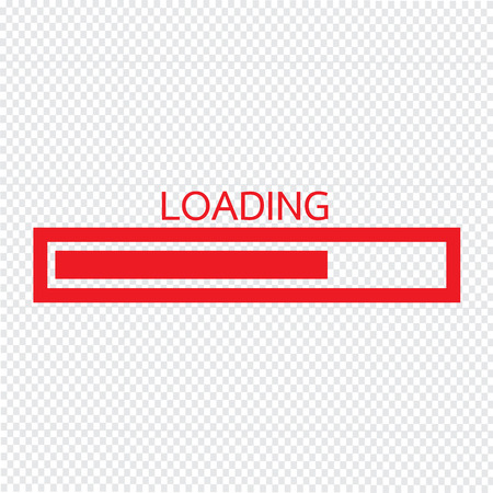 Loading bar icon Vector Illustration