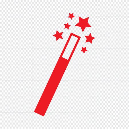 Magic Wand Icon Vector Illustration Royalty Free Cliparts Vectors