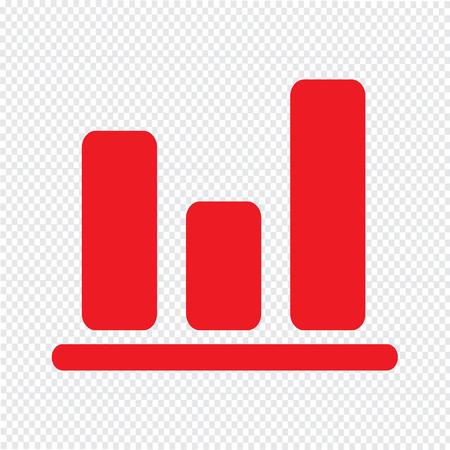 Simple diagram graph icon vector illustration Illustration