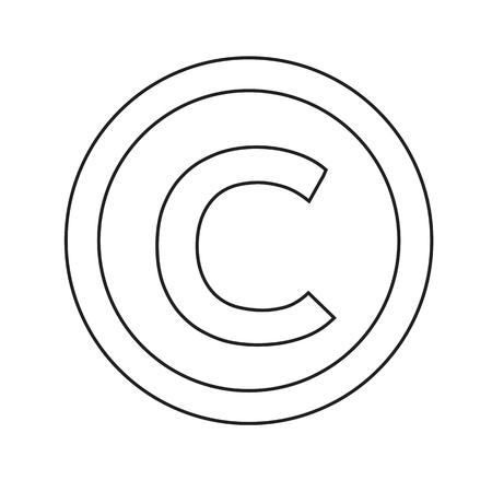 copyright symbol icon vector illustration Illustration