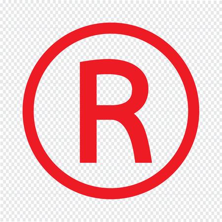 Registered Trademark icon vector illustration Illustration