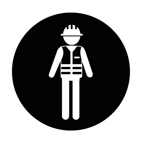 Worker People Icon Illustration