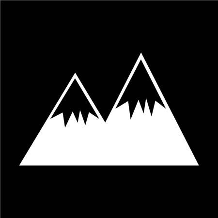 winter range: mountain icon Illustration