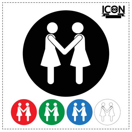 Les gens Handshake Icône Banque d'images - 74232822