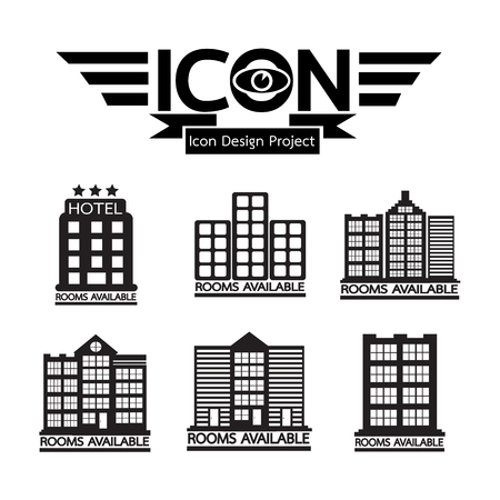 hotel rooms: Hotel Rooms Available icon