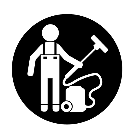 Cleaner Man icon Illustration
