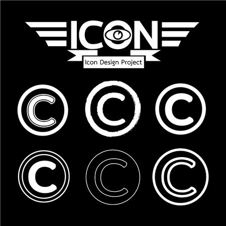 duplication: copyright icon Illustration