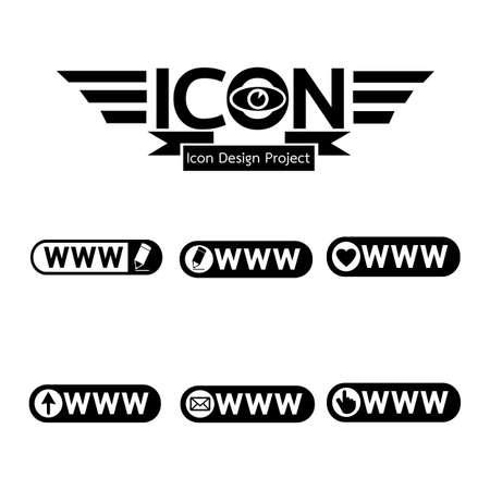 worldwideweb: www web icon Illustration