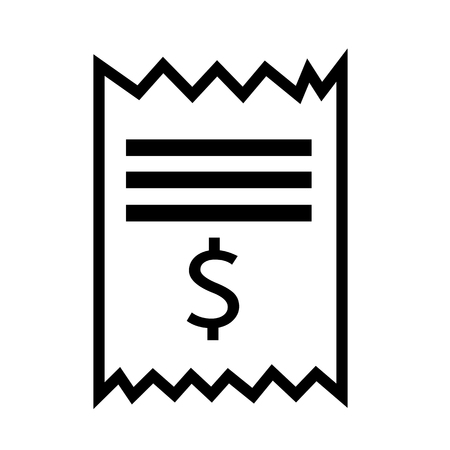 Invoice bill icon Illustration