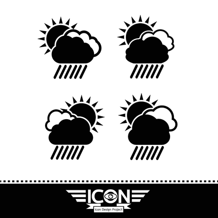 cloud rain sun icon