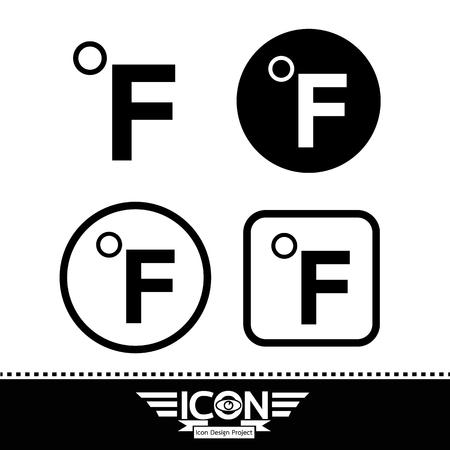 fahrenheit: fahrenheit symbol icon Illustration