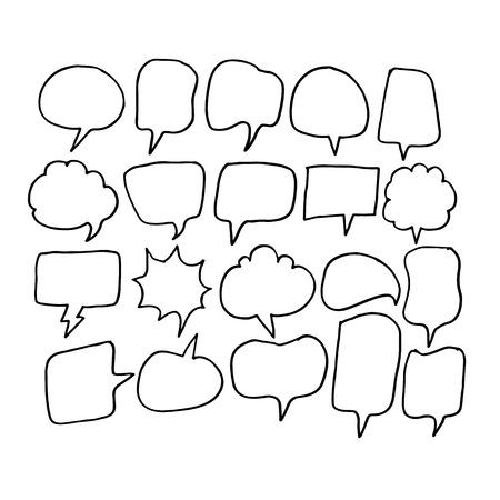 rumour: Speech Bubble hand drawn