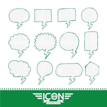 Speech Bubble hand drawn design
