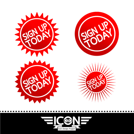 Sign up  button Illustration
