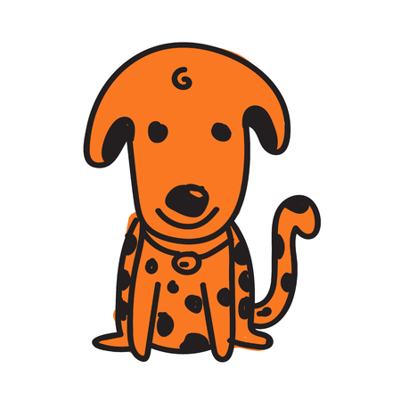 dog cartoon icon Vector illustration. Illustration