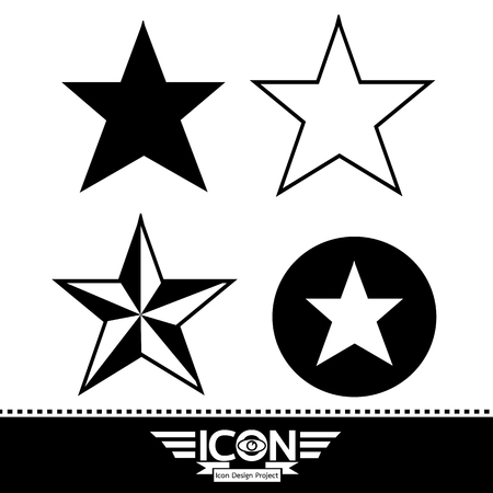 star icon Vector illustration. Illustration
