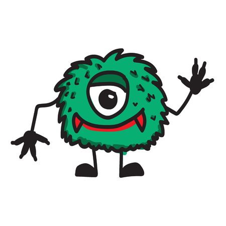 monster cartoon icon Vector illustration. Illustration