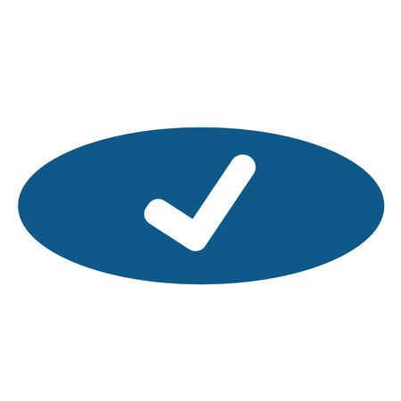 Tick Check Mark Icon Illustration
