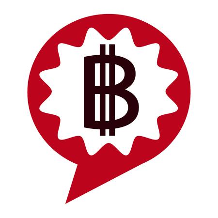 Bitcoin icon design Illustration
