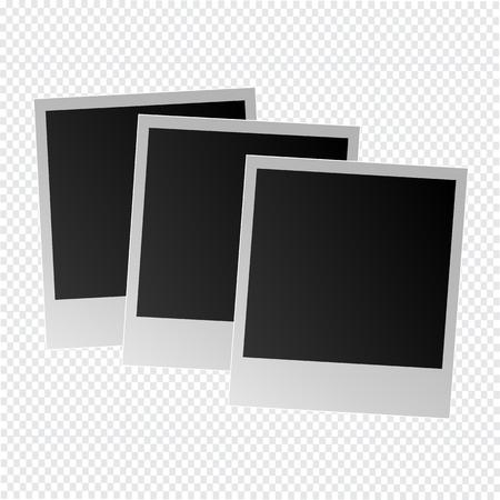 Photo frame on a transparent background