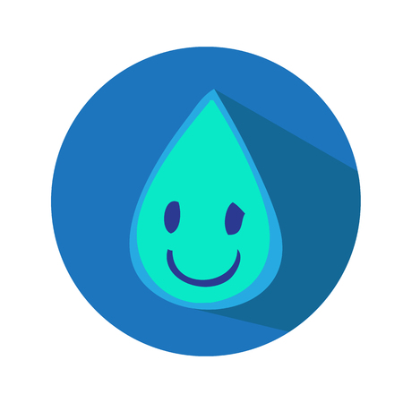 Water drop icon Vector illustration Illustration