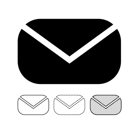 email mail icon vector Ilustrace