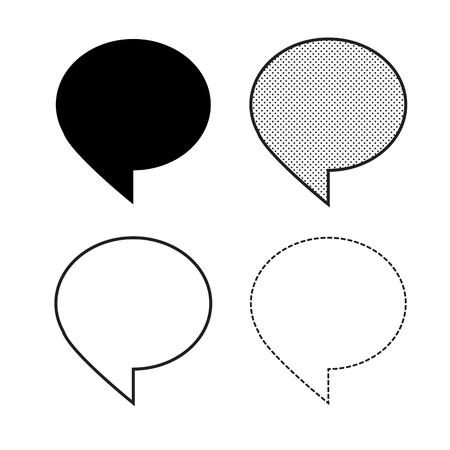 Vector de icono de burbujas de discurso