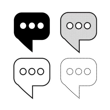 Speech bubbles Icon vector Vettoriali