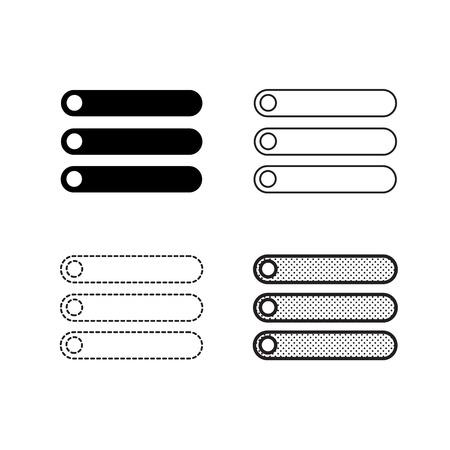 Vecteur d'icônes de menu Vecteurs