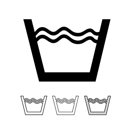 laundry symbol icon vector