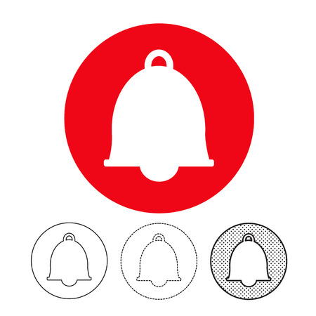 bell icon vector Illustration