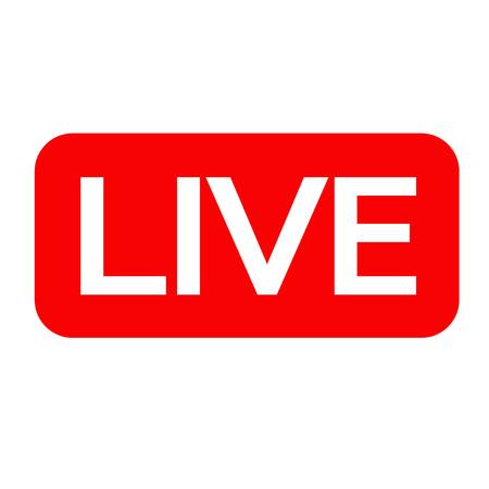 Live Streaming online sign vector design Vecteurs